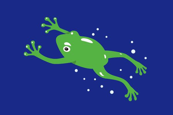 「泳いでるカエル イラスト」の画像検索結果
