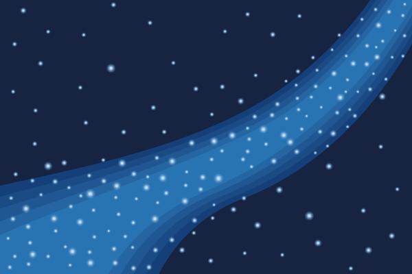天の川のイラスト素材 Events Design