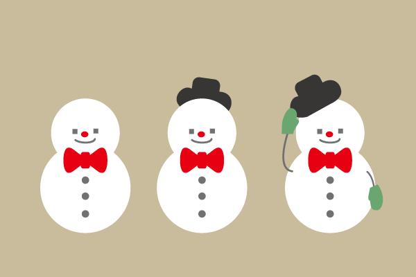 おしゃれな雪だるま \u2013 EVENTs Design